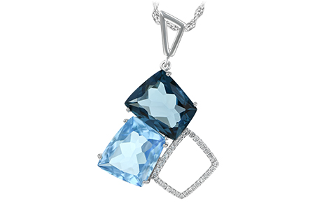 F188-52217: NECK 10.60 BLUE TOPAZ 10.73 TGW