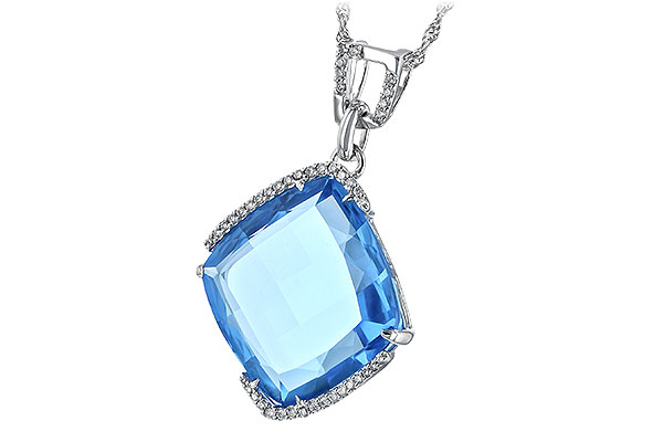 G189-38617: NECK 14.75 BLUE TOPAZ 14.90 TGW