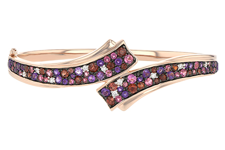 H188-52235: BANGLE 3.12 MULTI-COLOR 3.30 TGW (AMY,GT,PT)